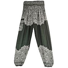 Wide  Leisure Lantern dark green Women Yoga Pants