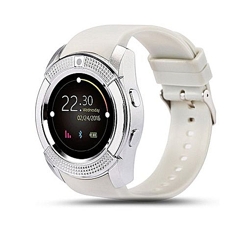 a05e715fb Generic Generic V8 Smart Watch Sports Fitness Tracker Bluetooth Wrist Watch Support  SIM Card And TF Card-White