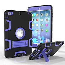 Mini 3 Case, Armor-Box Three Layer Heavy Duty Rugged Hybrid Protective With KickStand Case For Ipad Mini 1 2 3 (Black/Purple)