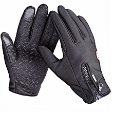 Outdoor Sport Gloves Touch Screen Windproof Winter Windstopper Waterproof Gloves (Black)