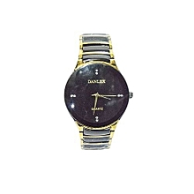 Unisex Danlex Metallic Golden & Black Wrist Watch