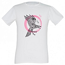 White Mens Printed T-shirts
