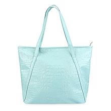 Crocodile Solid Color Shopper Bag - Green