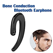 Bluetooth earphone wireless bone conduction no ear plugs - Black