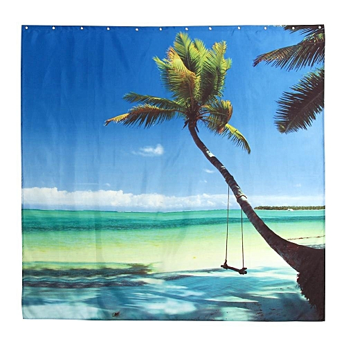180180cm 3D Shower Curtain Ocean Scenery Printing Polyester Bathroom With Hooks 1