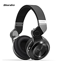 Bluedio T2 Foldable Style Bluetooth V4.1 +EDR Wireless Stereo Headset with Mic (Black)