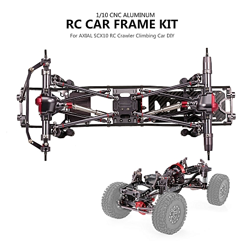 Generic 1/10 RC Car Frame Kit CNC Aluminum for AXIAL SCX10