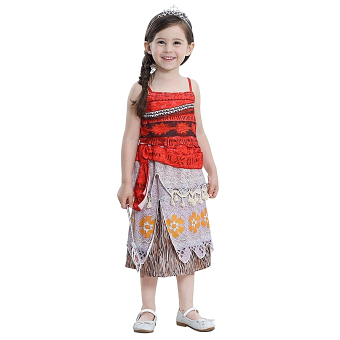 Buy Generic Girls dreeses Moana Outfit Princess Kids Adventure ...