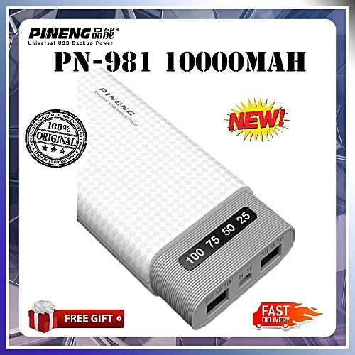 2018 New Pineng PN-981 10000mAH Powerbank SLIM PN981 PN 981 PN983 PN958 PN963 PN953 1 year warranty Free Pouch Bag BGmall