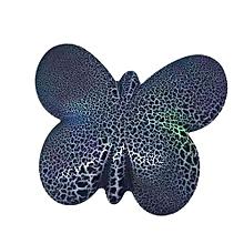 S830 Wireless Speaker Portable Mini Bluetooth Speaker LED Crack Pattern Butterfly Shape Music Loudspeaker Support TF Card(Black)