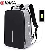 Grey Anti - theft laptop Bag
