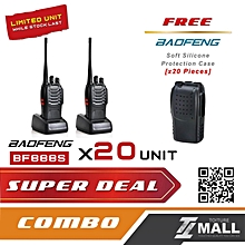 BAOFENG BF-888S Walkie Talkie Two-way Portable CB Radio [20 UNIT] + FREE Silicone Case [20 UNIT]