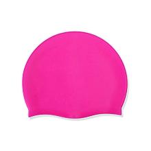 Silica Gel Adult Soild Color Long Hair Sports Waterproof Pool Swimming Cap