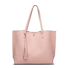 Women Single-shoulder Bag Large Capacity Ladies Bag With Tassel Decoration Pink