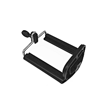 Retractable Universal Design Tripod Monopod Mobile Phone U Clip Mount Holder black