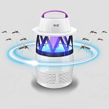 Outdoor Mosquito Killer Lamp LED Photocatalyst Mute Fan Night Light Insect Repellent Travel Camp White