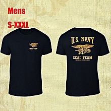 76ff70892 Classics Us Navy Seal Team Mens T-shirt Cotton Printed Short Sleeves Funny Graphic  Tee