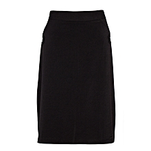 Black Mini Skirt With 2 Side Buttons