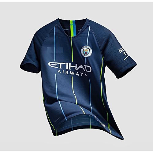 e081d4f9a Generic The New Manchester City 2018 2019 Away Kit Football Jersey Shirt  Blue