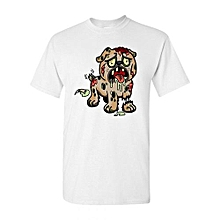 Zombie Dog Undead Animals Adult DT T-Shirt Fashion O-Neck Short Sleeved T Shirts Summer Funny Loose Tee Shirt For Men