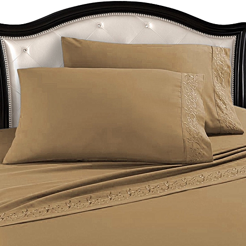 Premium Egyptian Cotton Bed Sheets Set, Taupe