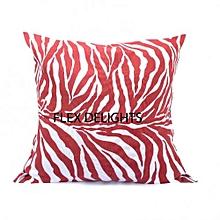 Cotton Linen Throw Pillow - 50*50CM - White & Brown