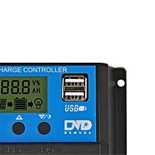 30A Dual USB Solar Panel Battery Regulator Charge Controller 12V 24V