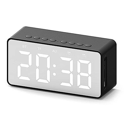 Bluetooth 5 0 Portable Wireless Bluetooth Speaker Subwoofer Stereo Music  Sound Box LED Time Snooze Alarm Clock for Laptop Phone DNFCSHOP