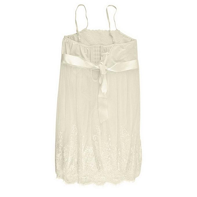 dd102f2952 ... Women Sleepwear Seductive Lingerie Pretty Perspective Lace Suit Gallus  Top ...