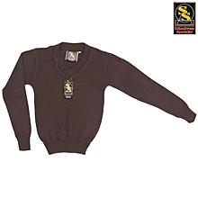 School Sweater - Choclate Brown