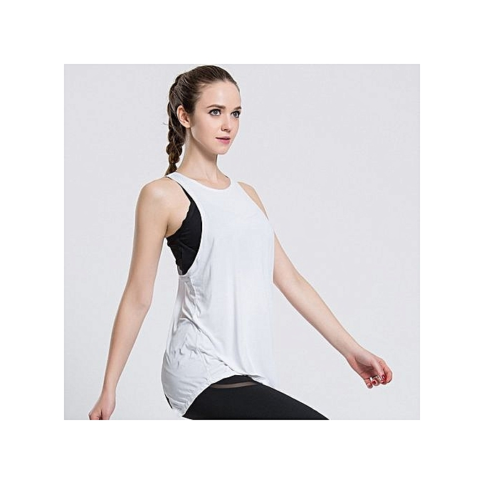 f6b130ac4cc60 Women Gym Sports T Shirt Yoga Workout Vest Fitness Training Exercise  Running Clothing Sportswear Tee Tank