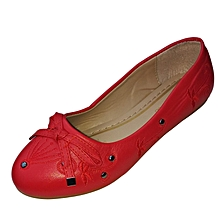 Women Red Flat Shoes