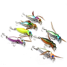 3Pcs Crank baits Fishing Lures 3D Eye Bass With Wing 4.5CM
