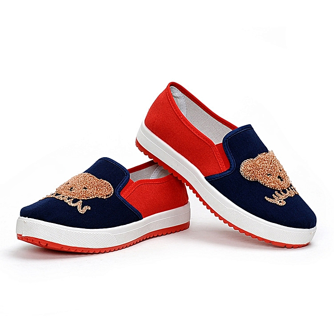 f89db464fea02f ... Ms.Wangdu Comfortable Cloth Shoes Student Embroidery Ladies Leisure  Single Shoes Cartoon Flat Bottom Shallow
