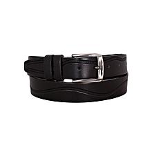 Black Men's Leather Belt