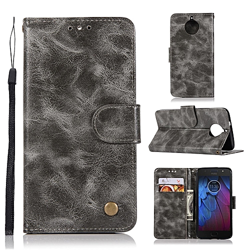 premium selection d5e83 01779 Casing For Motorola Moto G5S Plus,Reto Leather Wallet Case Magnetic Double  Card Holder Flip Cover