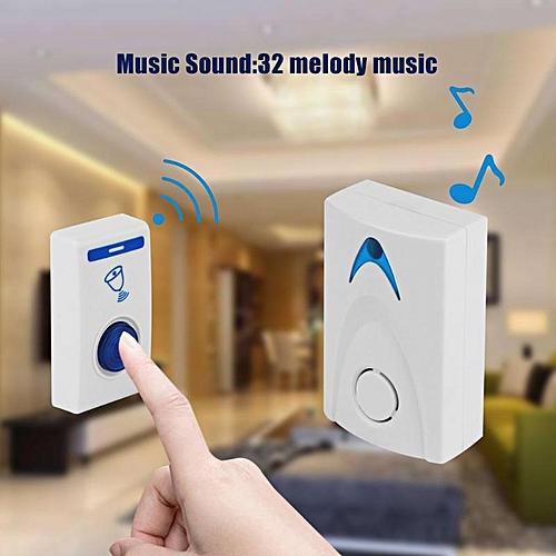 DC3V LED Wireless Chime Doorbell Battery Powered 32 Tune Songs 1 Remote  Control 1 Wireless Doorbell Door Bell BELLA