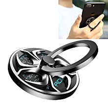 ROCK 360 Degree Rotation Finger Spinner Ring Holder, For iPhone, Galaxy, Huawei, Xiaomi, Lenovo, Sony, LG, HTC, other Smartphones and Tablets (Silver)