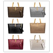 BS Womens Nylon Tote Bag Shoulder Handbag With Zipper For Shopping