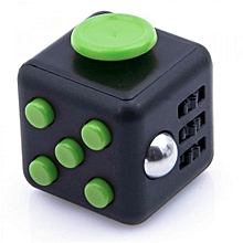 Reduce Pressure Fidget Cube Stress Relief Magic Cube 6-side Dice For Family Adults Kids - Black & Green