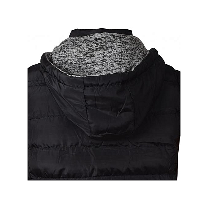 38f7a4321d Generic Black Sleeveless Half Puff Jacket   Best Price
