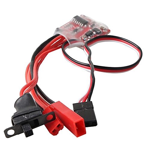 RC Car Synthetic 30A Mini Brushed ESC Brush Motor Electronic Speed  Controller Red