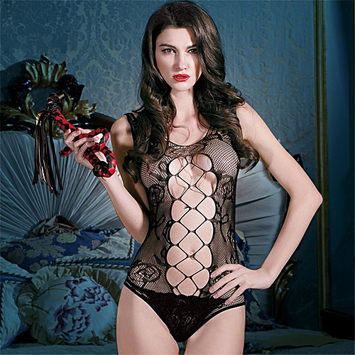 a2b93feaae6 Generic Women Exotic Lingerie Teddies Sheer Mesh See Through Backless Open  Crotch Hollow Out Net Sexy Bodysuit Black