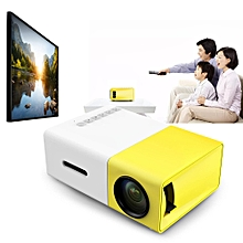 YG - 300 LCD Projector 320 x 240 Home Media Player YELLOW-UK PLUG