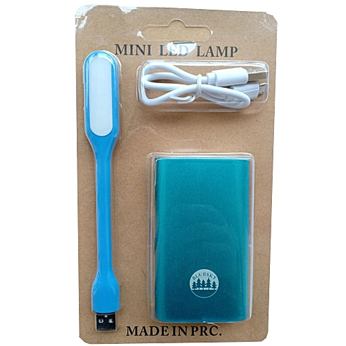 5200mAh power bank-Blue, get one free USB LED lamp