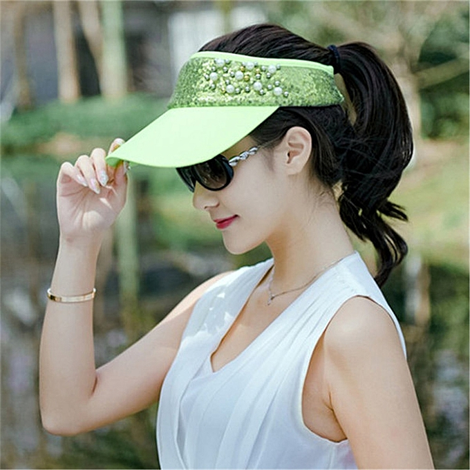 e7739b9f80e Fashion Women Lace Adjustable Flower Baseball Cap Summer UV Protection Sport  Visor Sun Hat