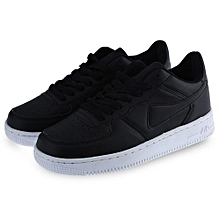 Ladies Lace Up Sports Shoes - Black