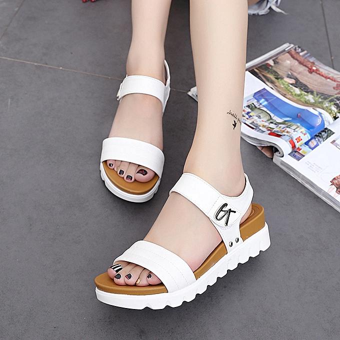 d698593751d3 Summer Sandals Women Aged Flat Fashion Sandals Comfortable Ladies Shoes (EU  SIZE)