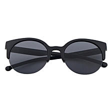 ebe251c7d3 Fashion Unisex Retro Round Circle Frame Semi-Rimless Sunglasses Eyewear