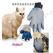 Refined  New Cleaning Brush Magic Glove Pet Dog Cat Massage Hair Removal Grooming Groomer